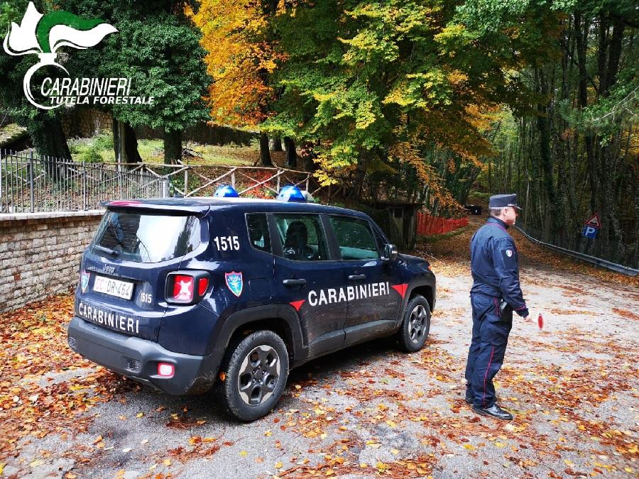 Carabinieri Forestali in servizio per contrastare attivita illegali di motocross fermano un giovane