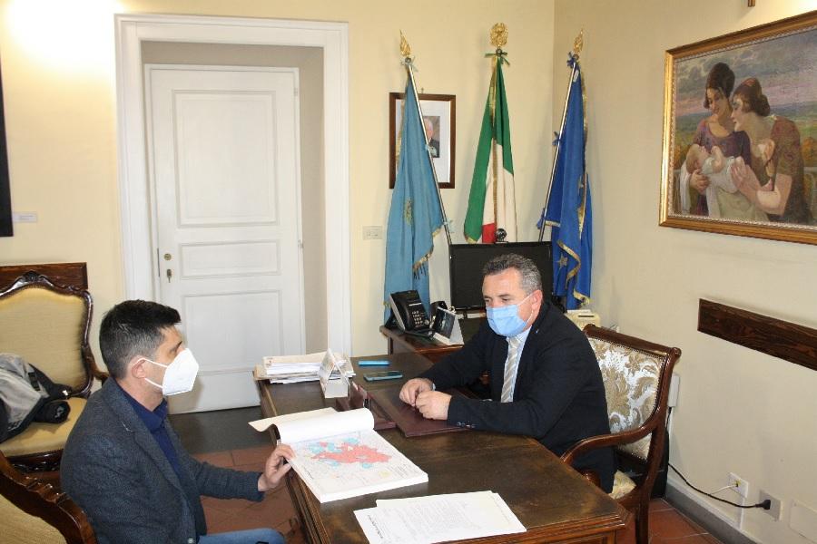 Di Maria incontra il sindaco di Catelpoto