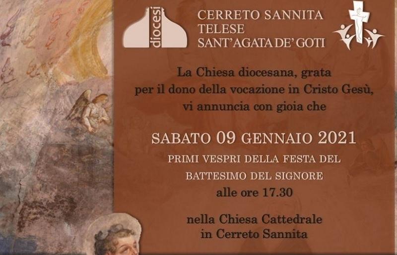 Ordinazione diaconale dell'accolito Alex Criscuolo nella Cattedrale di Cerreto Sannita