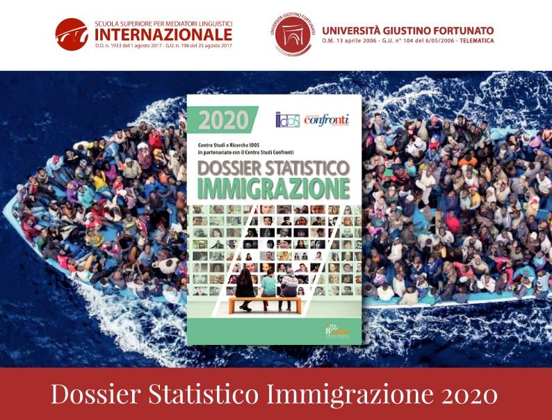 """Unifortunato. Sabato 12 Dicembre la presentazione del """"Dossier Statistico Immigrazione 2020"""""""