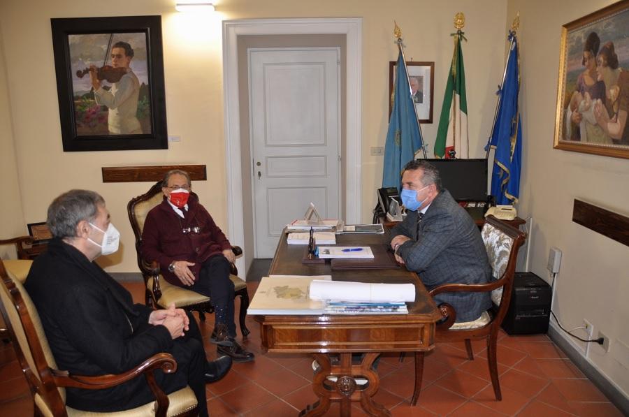 """Il Presidente e il Direttore del Conservatorio """"Nicola Sala""""a colloquio con il Presidente Di Maria"""