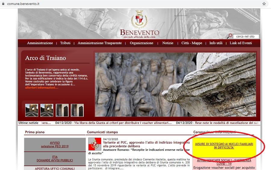 Benevento. Erogazione voucher sociali, sul sito del comune la domanda online