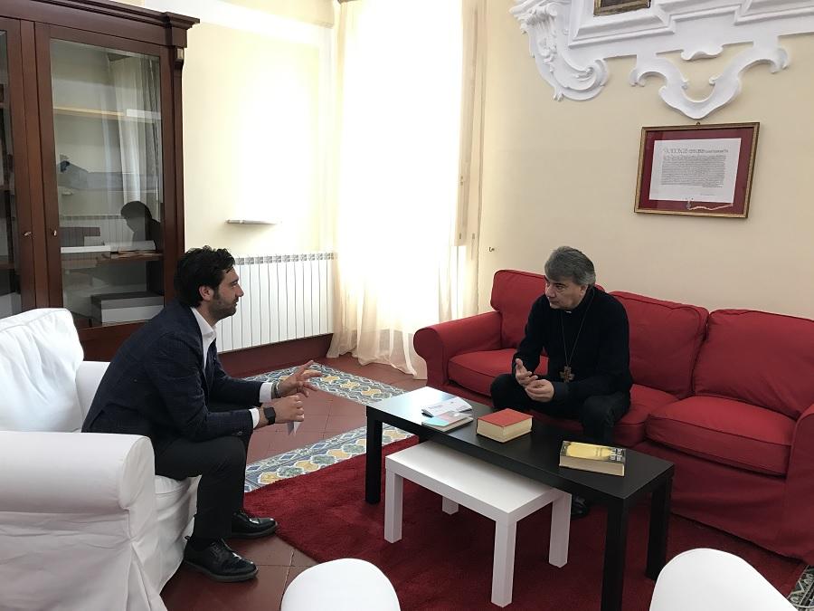 """Mortaruolo : """"Autentica amicizia e una straordinaria collaborazione istituzionale mi legano a Monsignor Domenico Battaglia"""""""