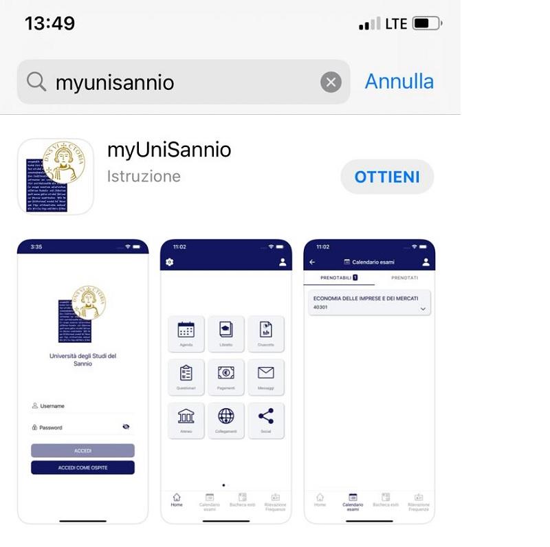 È arrivata myUniSannio l'app ufficiale dell'Università degli Studi del Sannio