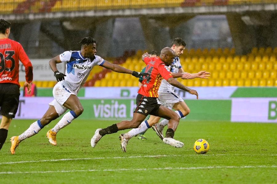 Il Benevento in formazione rimaneggiata di più non poteva. Benevento 1 Atalanta 4