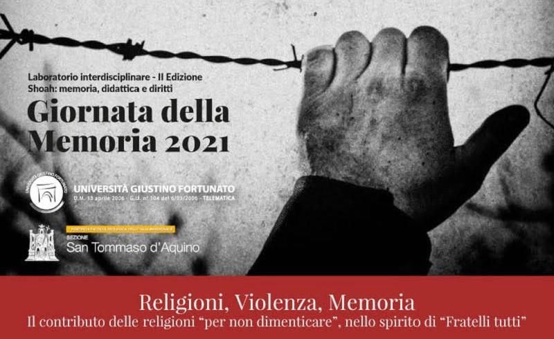 """Unifortunato,mercoledì 27 Gennaio giornata dedicata allaShoahsu:""""Religioni, Violenza, Memoria"""""""