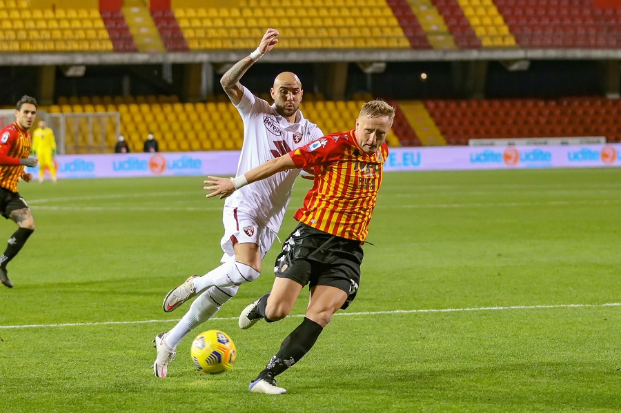 Peccato! Il Benevento raggiunto al 48′ della ripresa. Benevento 2 Torino 2