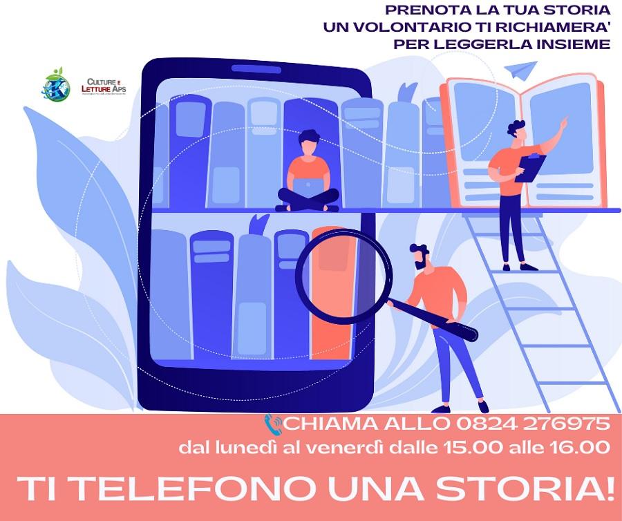 """""""Ti Telefono una Storia"""" la nuova iniziativa di inclusione sociale di Koinokalo' Sannio APS"""