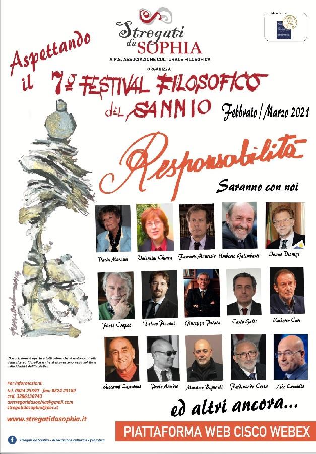 7° Festival Filosofico del Sannio, giovedi 18 Febbraio la conferenza stampa di presentazione