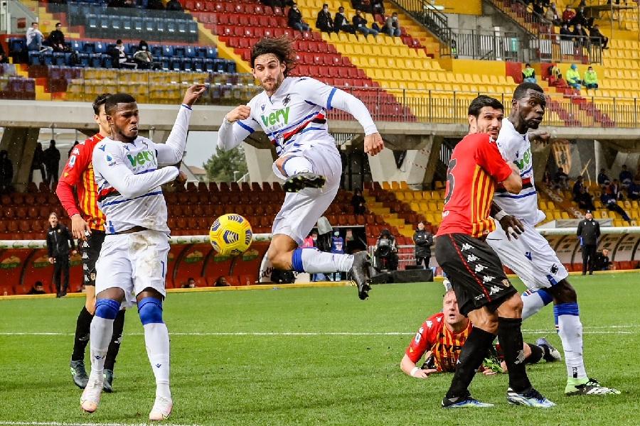 Il Benevento non sa più vincere. Benevento 1 Sampdoria 1
