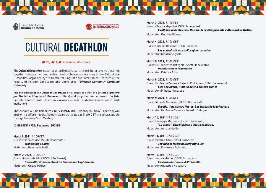 VI edizione del #CulturalDecathlon #ro#it