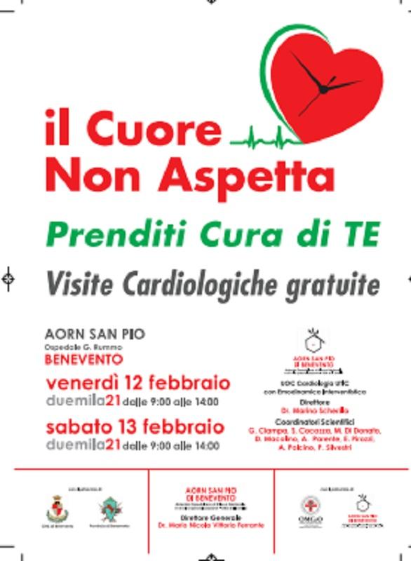 """A.O.R.N. """"San Pio"""": """"Il Cuore non Aspetta, Prenditi Cura di Te"""". Il 12 e 13 Febbraio visite cardiologiche gratuite"""