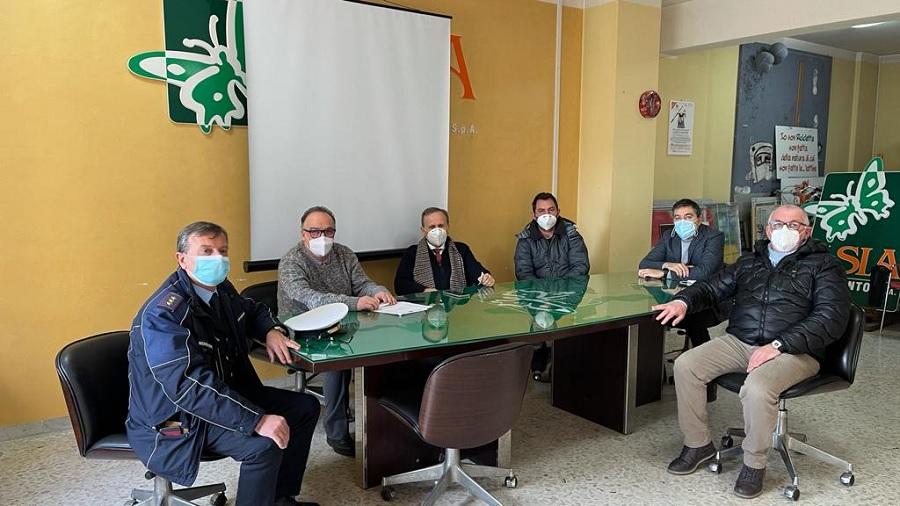 Asia, riunione con la Polizia Municipale per migliorare la raccolta differenziata