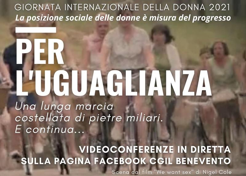 """""""Per l'Uguaglianza"""" l'8 marzo della CGIL di Benevento"""