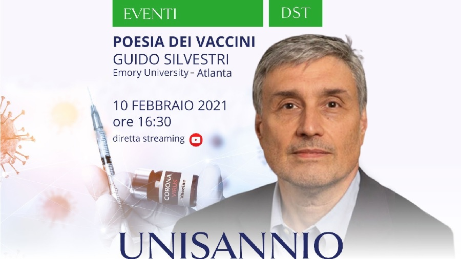 Unisannio. Il 10 Febbraio in diretta streaming si parlerà di vaccini con il prof. Silvestri