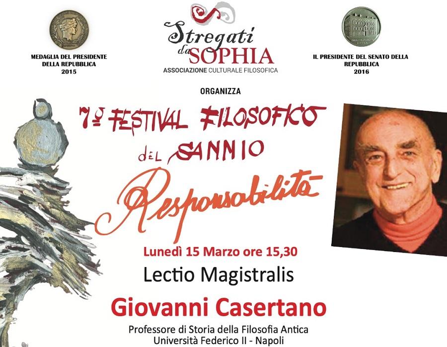 Il 15 Marzo si terrà l'ottavo appuntamento del 7° Festival Filosofico del Sannio