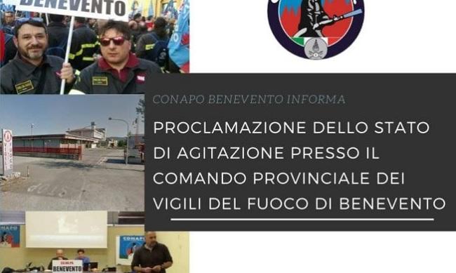 Vigili del Fuoco. Il CoNaPo  Proclama lo stato di agitazione Provinciale
