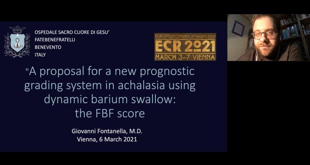 European Congress of radiology.Il Fatebenefratelli protagonista con il radiologo Giovanni Fontanella