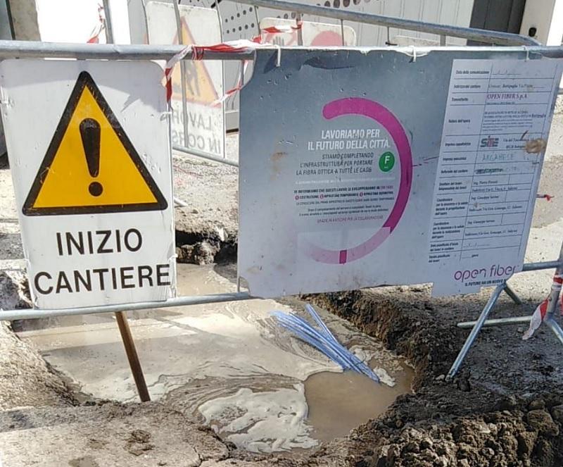 Benevento: stamane interruzione idrica in zona Ponticelli, a causa dei lavori di Open Fiber.
