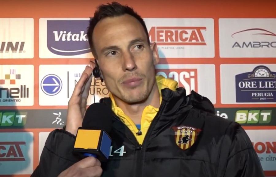 """Da Massimo Volta, ai saluti finali, un emozionato """"Grazie Benevento"""""""