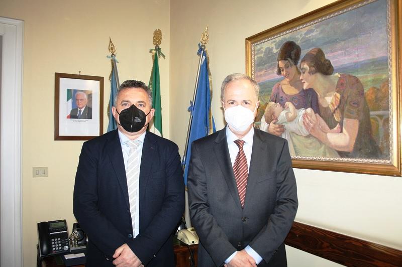 Il neo Prefetto di Benevento incontra il Presidente della Provincia
