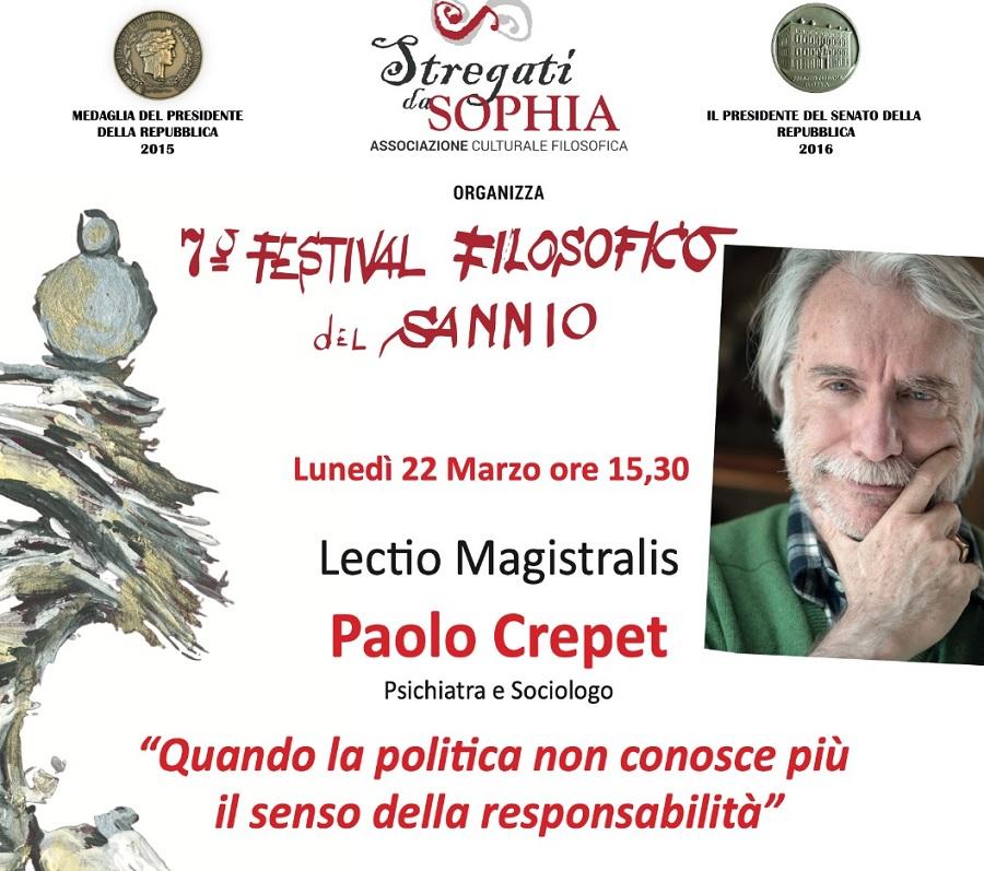 Il 22 Marzo gli ultimi due incontri del settimo Festival Filosofico del Sannio