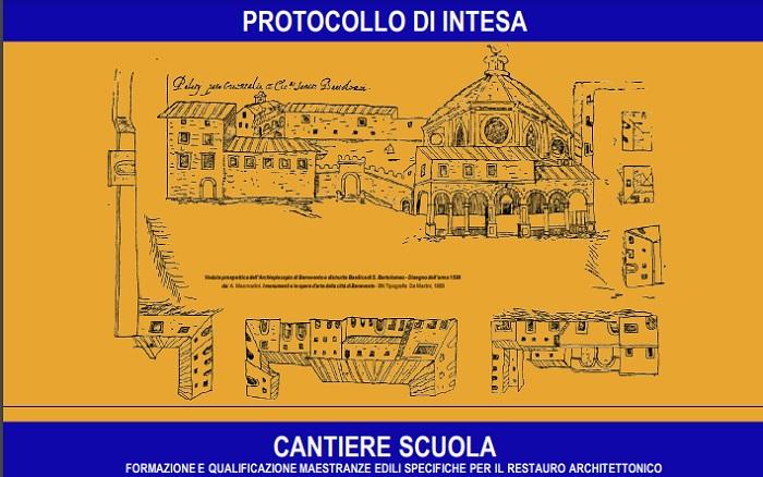 Formazione maestranze per lavori di restauro architettonico. Il 18 marzo la firma del protocollo