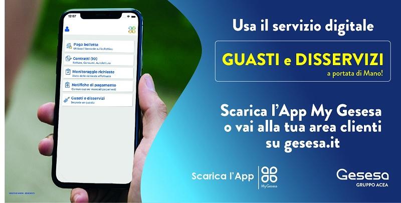 Guasti e Disservizi, nasce il nuovo servizio digitale Gesesa per Te