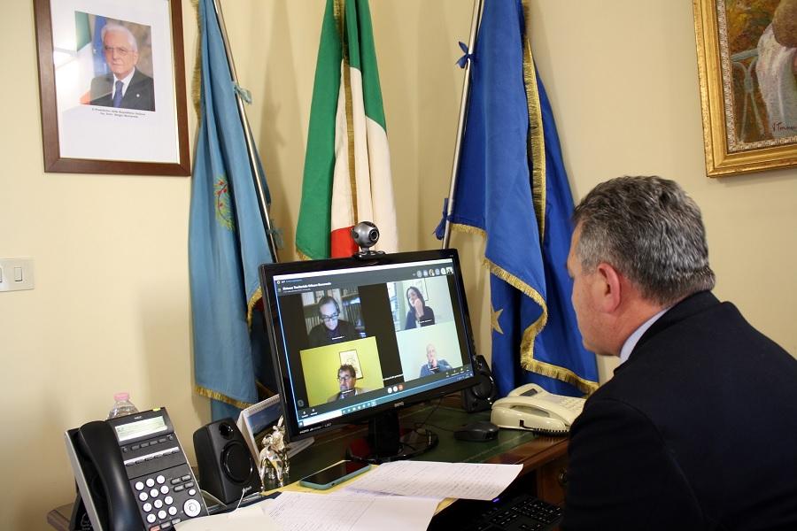 Terza tornata di video conferenze con i sindaci per il contratto istituzionale di sviluppo.
