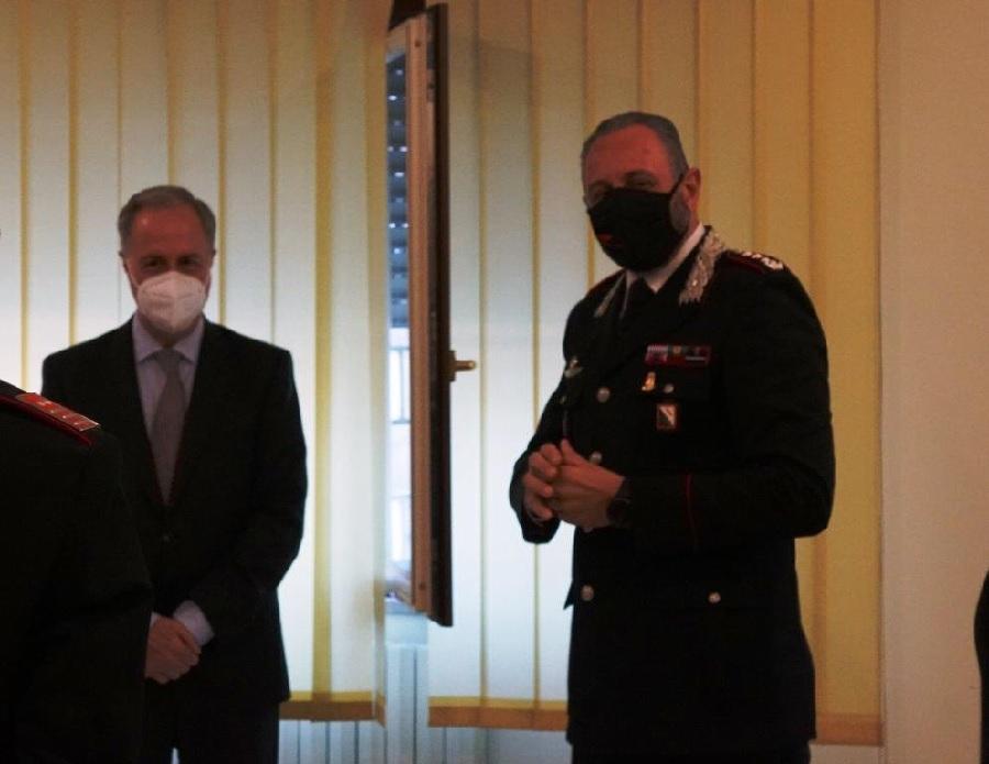 Benevento. Visita istituzionale del Prefetto al Comando Provinciale Carabinieri