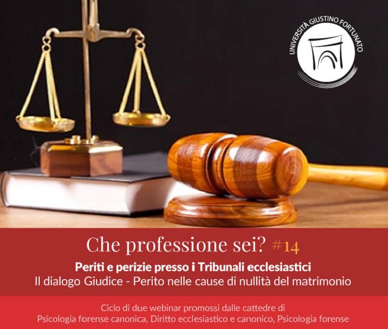 Unifortunato: Ciclo di webinar: Periti e Perizie presso i Tribunali Ecclesiastici