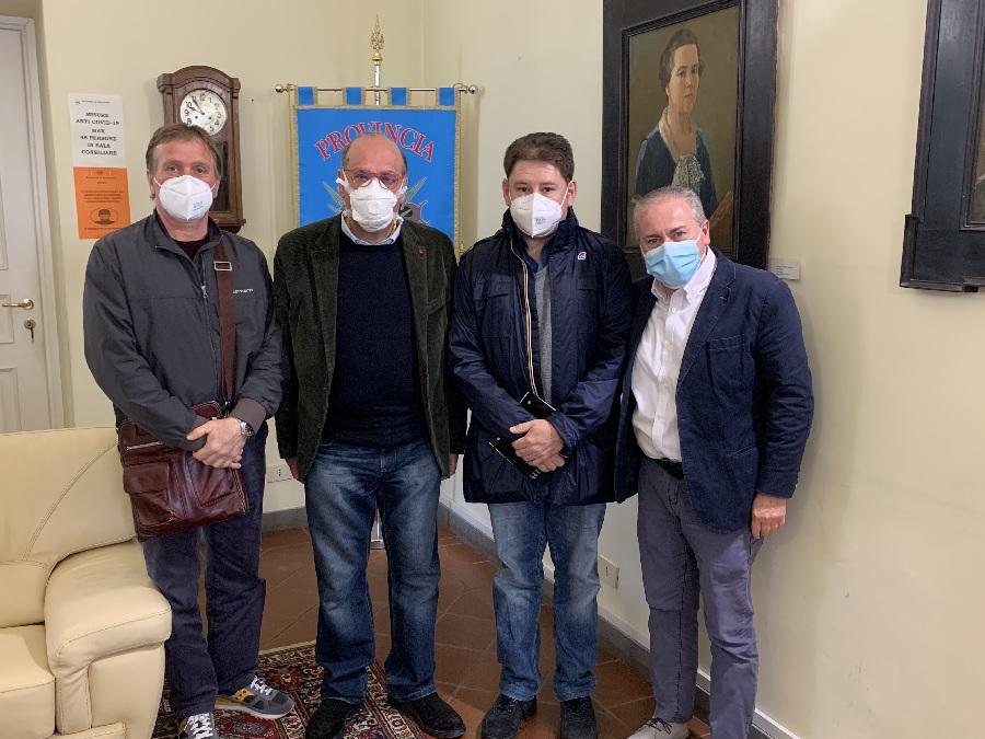 Fernando Errico ha incontrato i segretari delle tre sigle sindacali Luciano Valle (Cgil), Fernando Vecchione (Cisl) e Giovanni De Luca (Uil)