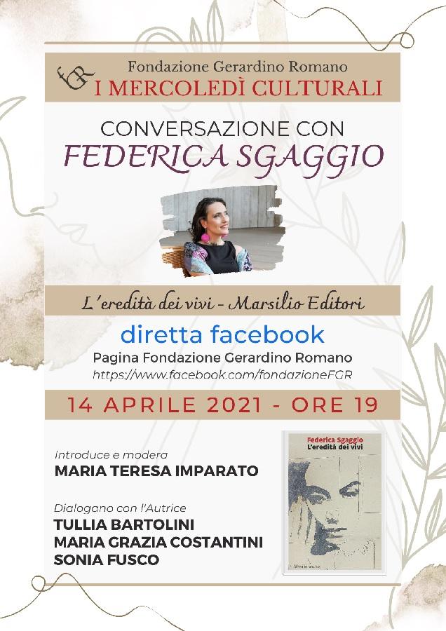 Fondazione Gerardino Romano. Mercoledì 14 conversazione con Federica Sgaggio