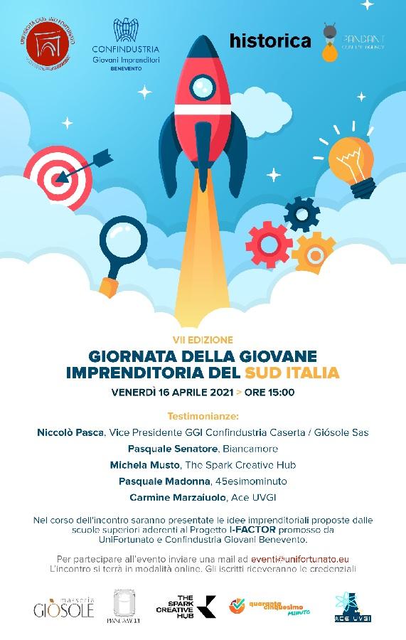 Unifortunato. Venerdi 16 Aprile VII Edizione Giornata della Giovane Imprenditoria del Sud Italia