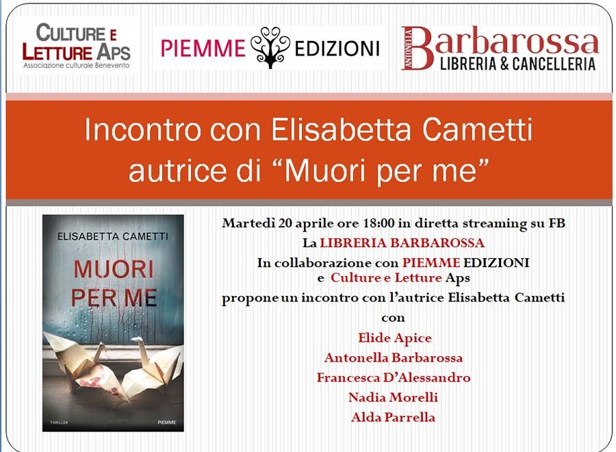 """Domani in diretta streaming sulle pagine social,verrà presentato il libro """"Muori per me"""""""