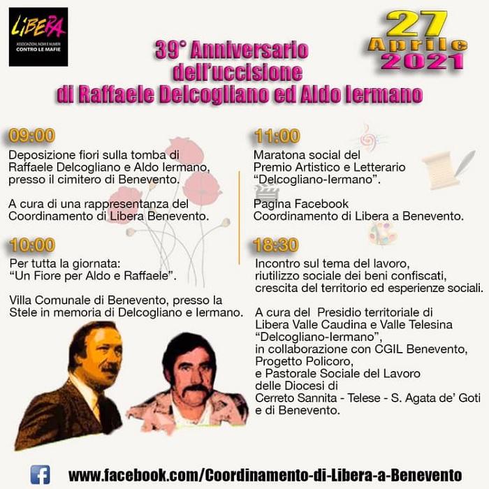 Il 27 aprile in memoria di Raffaele, Aldo e Tiziano. L'iniziativa di Libera