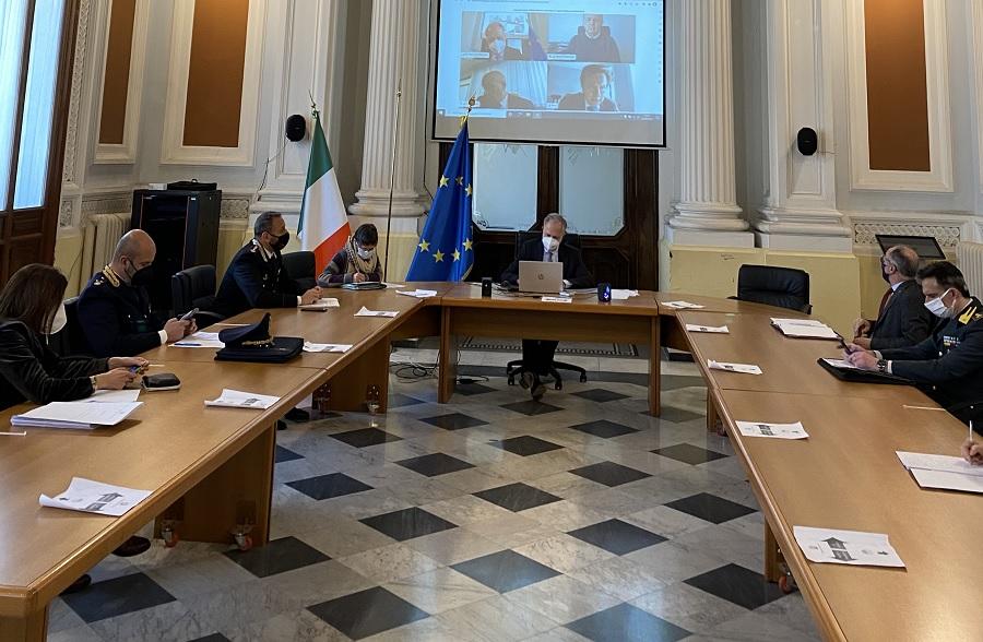 Ripresa Attività Didattica in presenza e Giro d'Italia: stamane riunione in Prefettura con i Vertici Territoriali