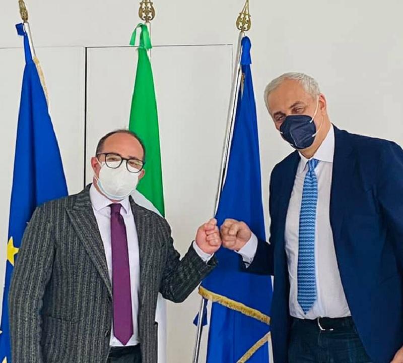 """""""Giornata Mondiale della Terra"""" Giuseppe Schipani (MedImpresa ACAI) incontra l'assesore all'Agricoltura della Regione Campania Nicola Caputo"""