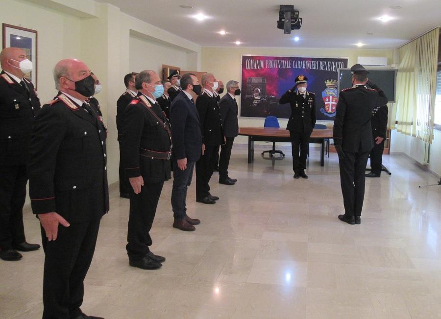Benevento: visita al Comando Provinciale dei Carabinieri del Generale Maurizio Detalmo Mezzavilla