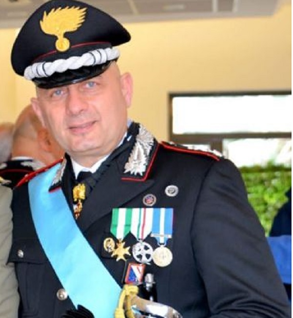 Il nuovo comandante Carmine Apicella del reparto operativo al Comando Provinciale Carabinieri di Benevento