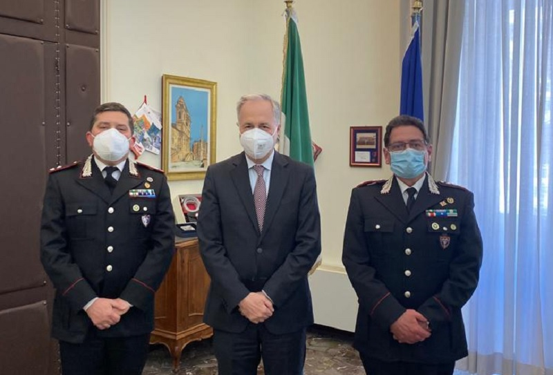 """Ambiente, il Prefetto Torlontano incontra il comandante Carabinieri Forestale """"Campania"""""""