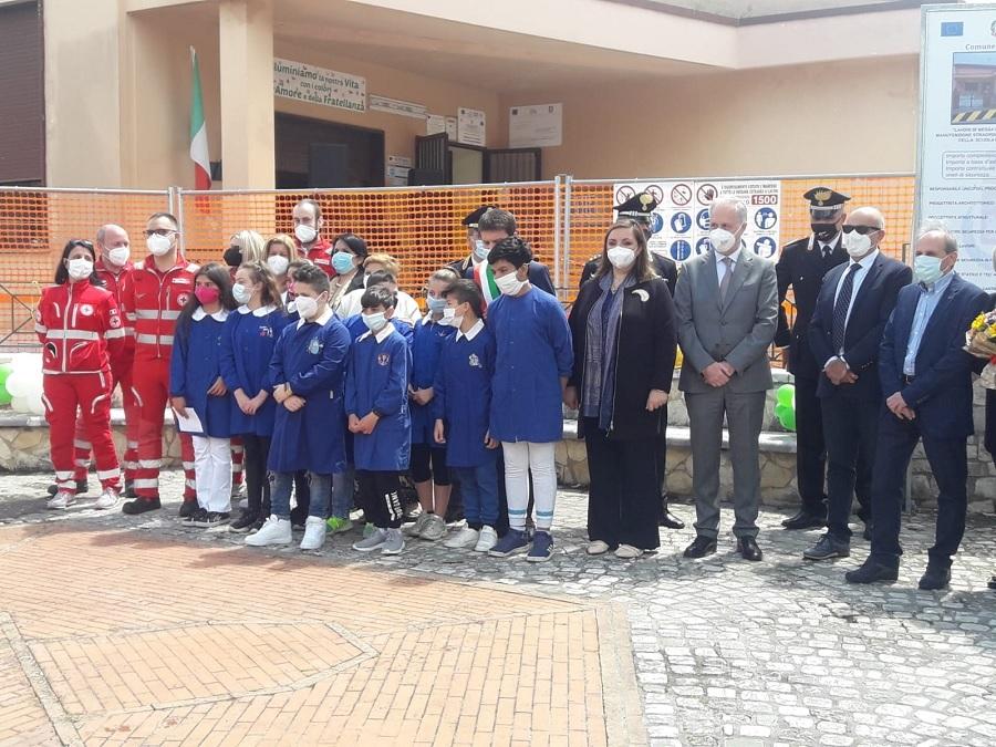 Nuova scuola primaria a Puglianello.Questa mattina l'inaugurazione