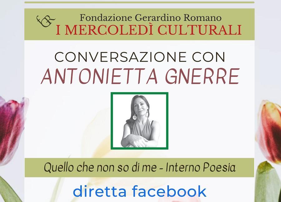 Mercoledì 26 maggio la Fondazione Gerardino Romano ospiterà la scrittrice Antonietta Gnerre