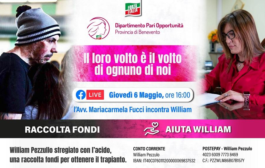 Domani la diretta facebook con William Pezzullo e Mariacarmela Fucci (Pari Opportunità)