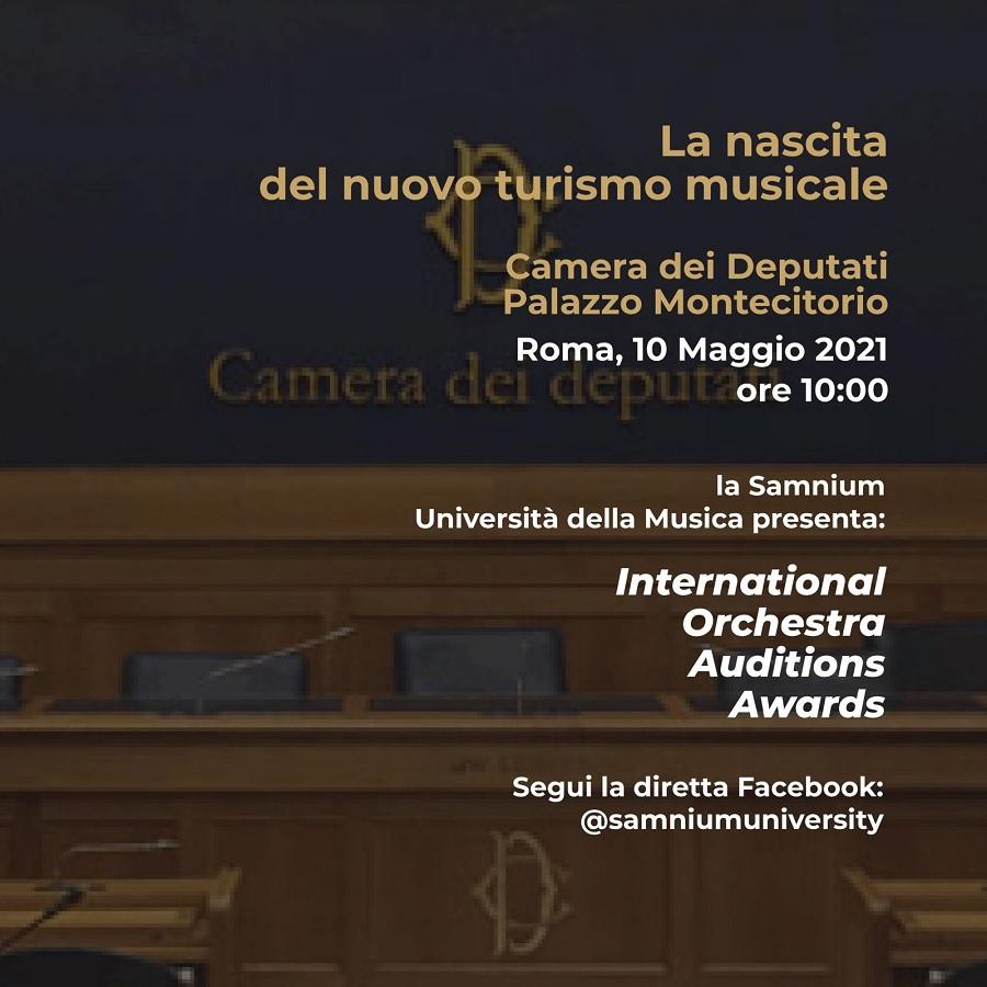 Samnium Università della Musica e il nuovo turismo musicale il 10 Maggio conferenza a Montecitorio