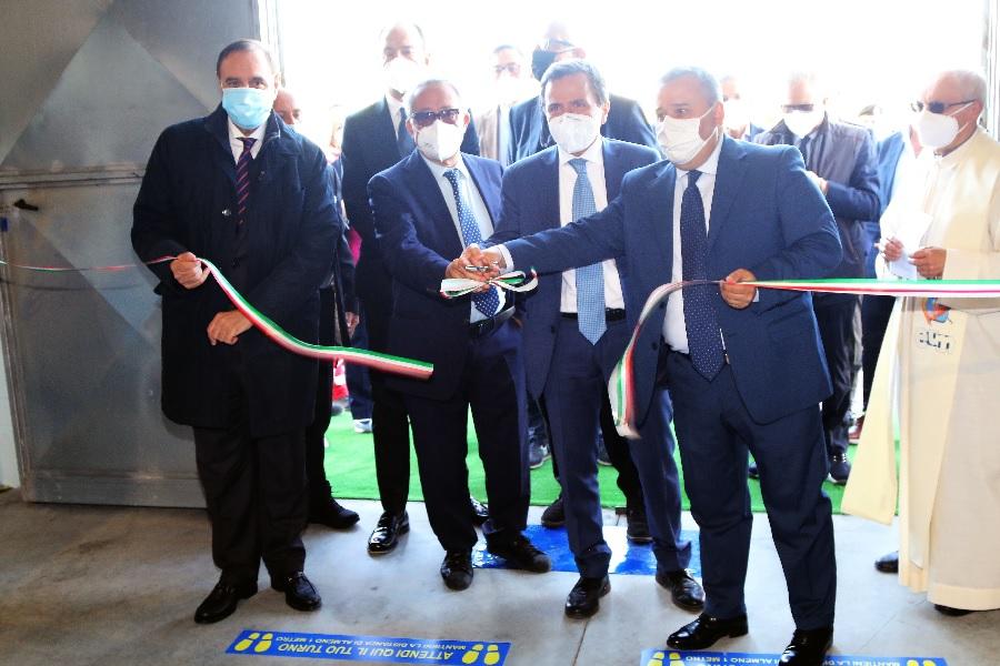 Inaugurato L'Hub vaccinale di Ponte Valentino, il Sannio riparte in sicurezza