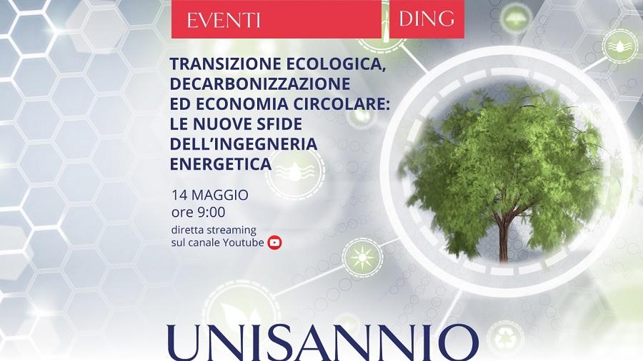 """L'Università del Sannio organizza una giornata di studio su """"Transizione ecologica, decarbonizzazione ed economia circolare"""
