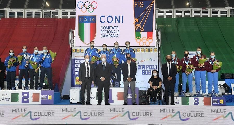 Momento d'oro per l'Accademia Olimpica Beneventana di Scherma Maestro Antonio Furno.