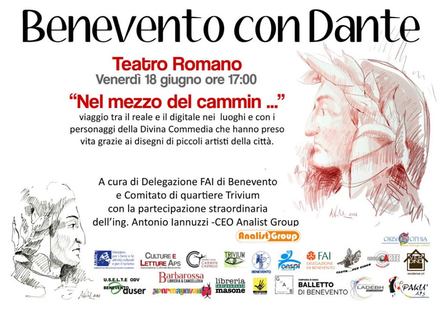 Benevento con Dante, il percorso digitale sviluppato da Analist Group