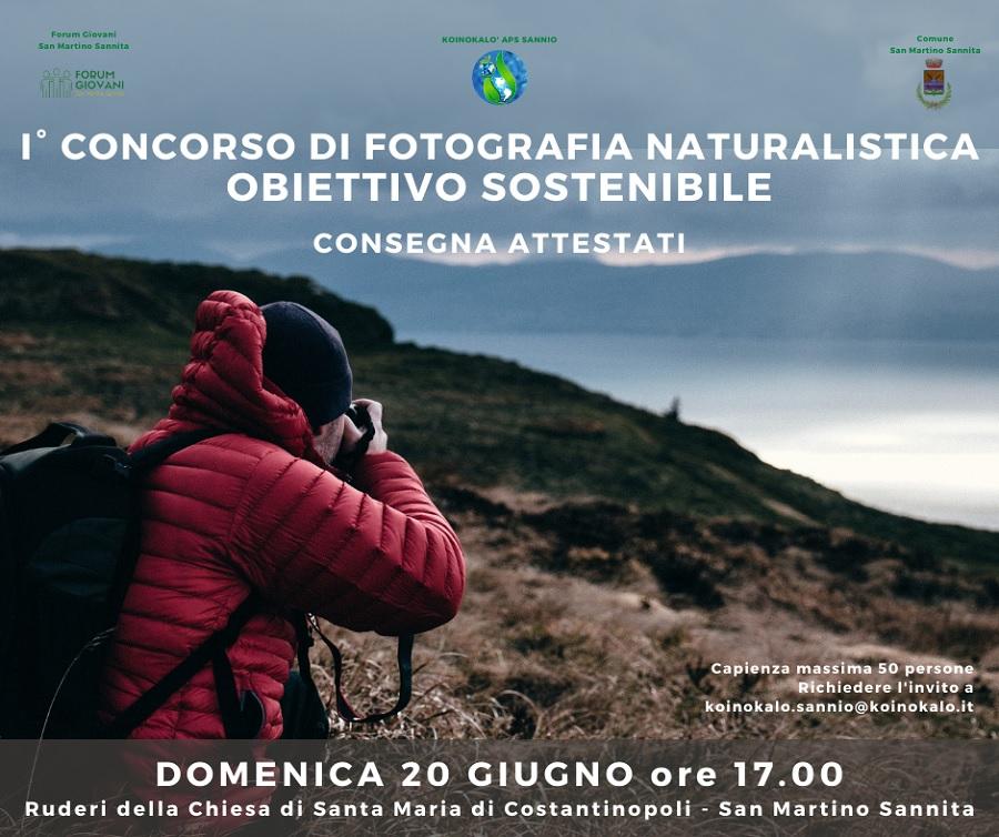 """Domenica 20 Giugno manifestazione finale del I° Concorso di Fotografia Naturalistica: """"Obiettivo Sostenibile"""""""